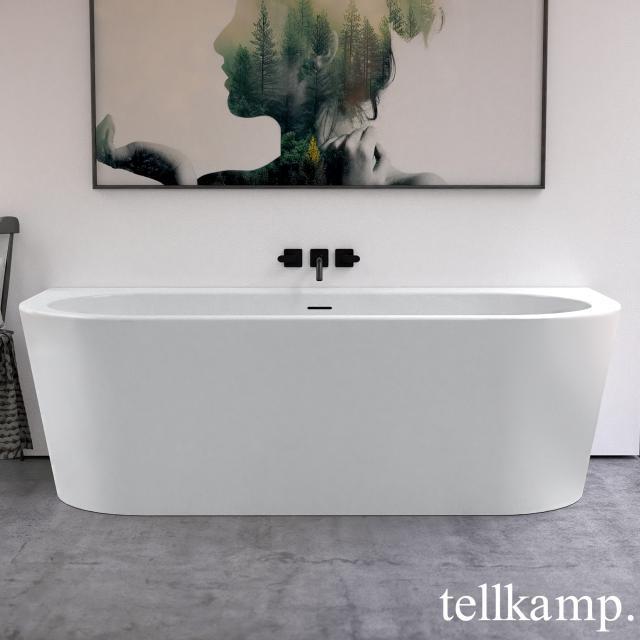 Tellkamp Solitär Wall Vorwand-Badewanne mit Verkleidung weiß matt, Schürze weiß matt, ohne Füllfunktion