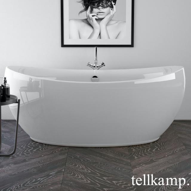 Tellkamp Spirit Freistehende Oval-Badewanne weiß glanz, ohne Füllfunktion