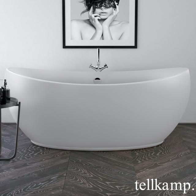 Tellkamp Spirit Freistehende Oval-Badewanne weiß matt, ohne Füllfunktion
