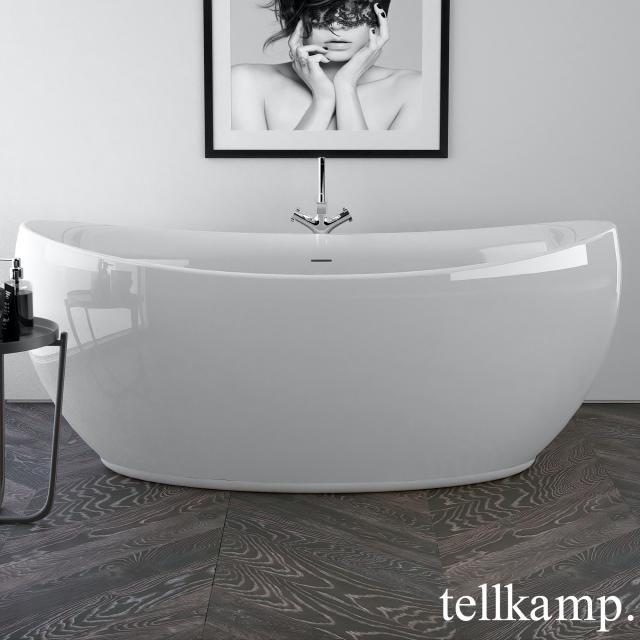 Tellkamp Spirit Freistehende Oval-Whirlwanne weiß glanz