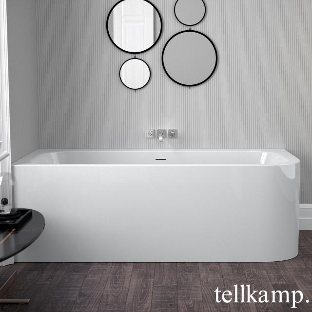 Tellkamp Thela Eck-Badewanne mit Verkleidung weiß glanz, ohne Füllfunktion
