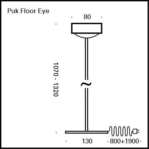 Top Light Puk Eye Floor LED Stehleuchte ohne Zubehör