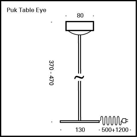 Top Light Puk Eye Table LED Tischleuchte ohne Zubehör