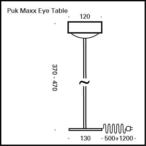 Top Light Puk Maxx Eye Table LED Tischleuchte ohne Zubehör