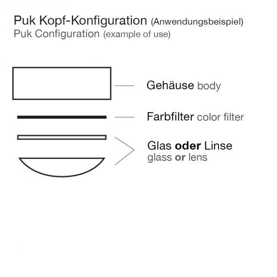 Top Light Puk Maxx One 2 Deckenleuchte ohne Zubehör