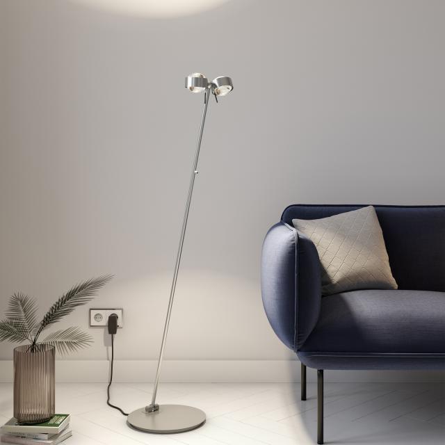Top Light Puk Floor Mini Twin LED Stehleuchte mit Dimmer
