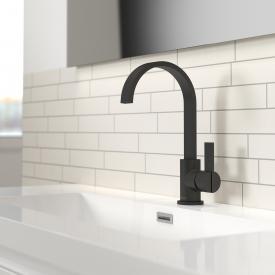 Treos Serie 195 Einhebel-Waschtischarmatur, mit Ablaufgarnitur schwarz matt