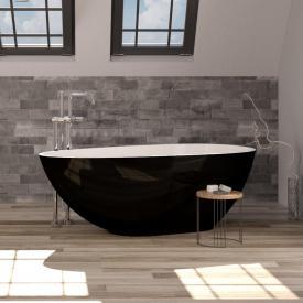 Treos Serie 700 freistehende Mineralguss Badewanne schwarz