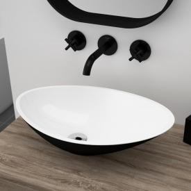 Treos Serie 710 Aufsatzwaschtisch schwarz/weiß