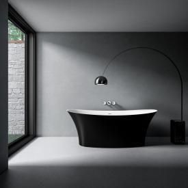Treos Serie 730 Freistehende Oval-Badewanne schwarz/weiß