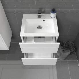 Treos Serie 915 Handwaschbecken mit Waschtischunterschrank mit 2 Auszügen