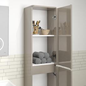 Treos Serie 920 Hochschrank mit 2 Türen Front cappuccino hochglanz / Korpus cappuccino hochglanz