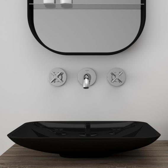 Treos Serie 710 Aufsatzwaschtisch schwarz