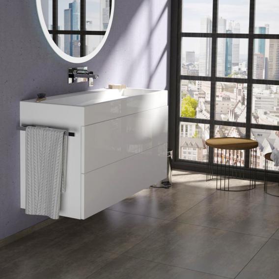 Treos Serie 910 Waschtisch mit Waschtischunterschrank mit 2 Auszügen ohne Hahnloch