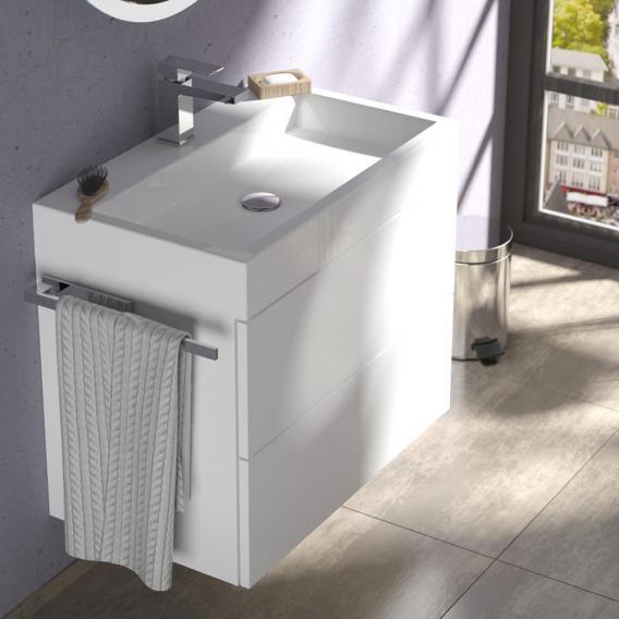 Treos Serie 910 Waschtisch mit Waschtischunterschrank mit 2 Auszügen mit Hahnloch