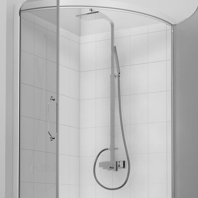 Treos Serie 175 Duschsystem mit Kopfbrause, für Wandmontage