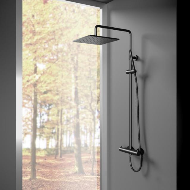 Treos Serie 195 Thermostat-Duschsystem mit Kopfbrause, für Wandmontage
