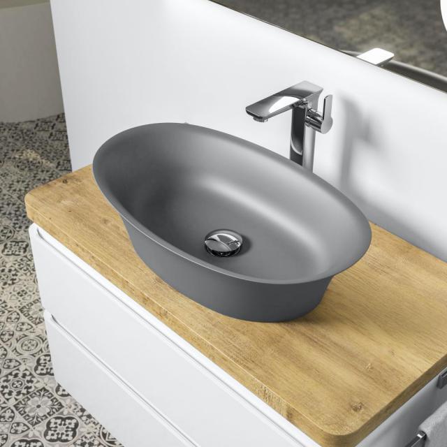 Treos Serie 730 Aufsatzwaschtisch grau matt