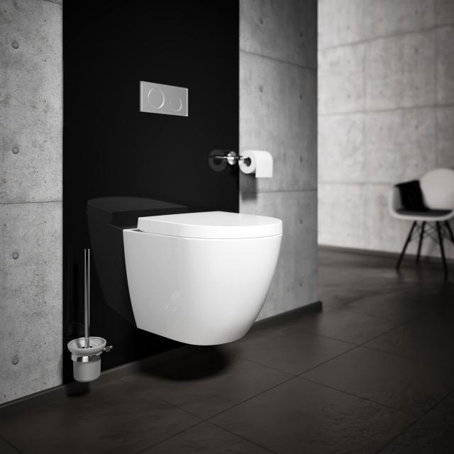 Treos Serie 800 Wand-Tiefspül-WC, spülrandlos, Ausführung kurz