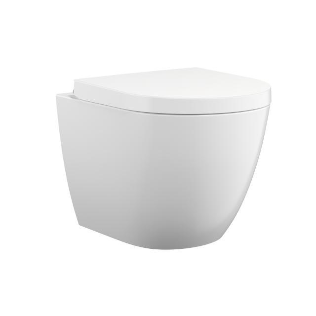 Treos Serie 800 Wand-Tiefspül-WC, spülrandlos, mit WC-Sitz, Ausführung kurz