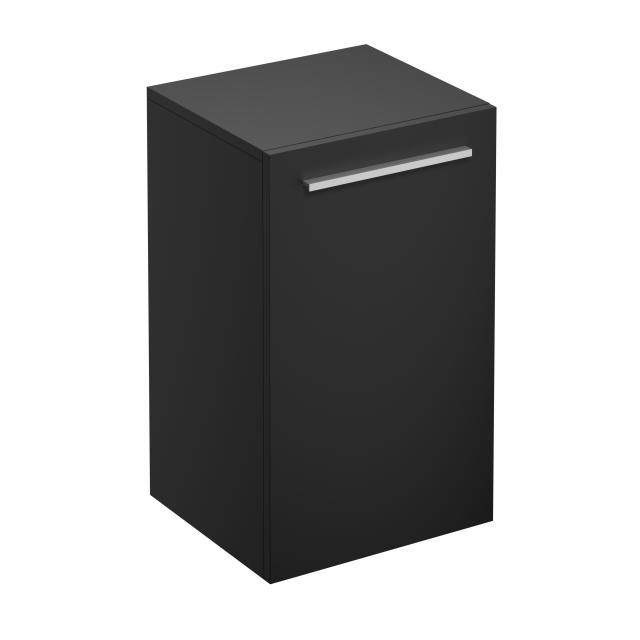 Treos Serie 900 Wandschrank mit 1 Tür Front schwarz seidenmatt / Korpus schwarz seidenmatt