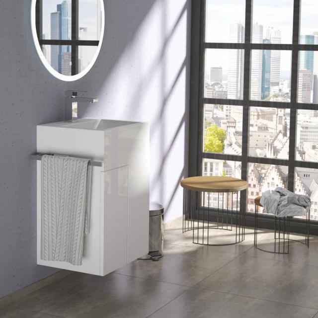 Treos Serie 910 Handwaschbecken mit Waschtischunterschrank mit 2 Türen