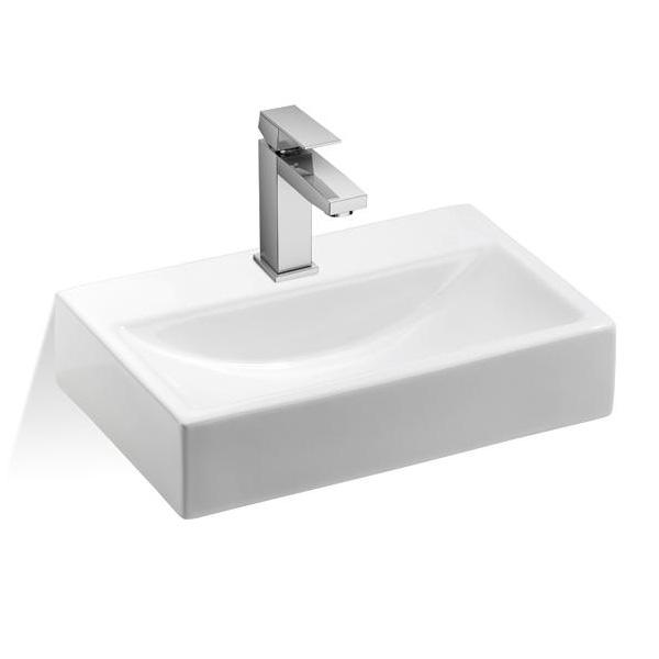treos 800 handwaschbecken mit hahnloch ohne berlauf reuter. Black Bedroom Furniture Sets. Home Design Ideas