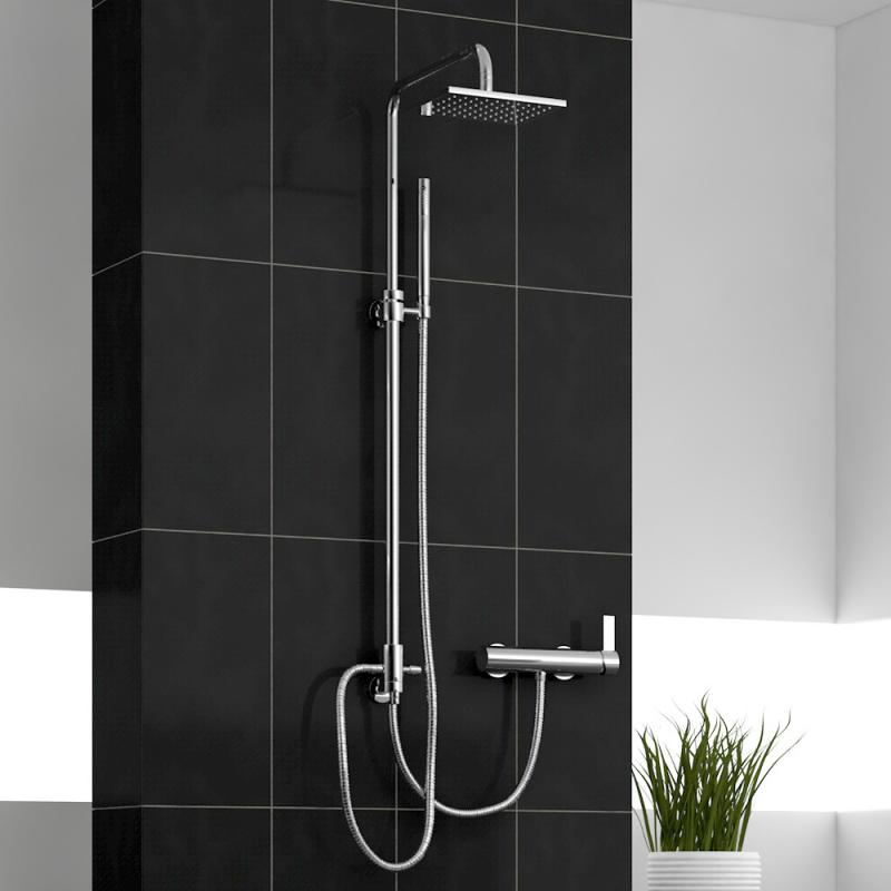 treos serie 195 duschsystem f r wandmontage zum anschluss an aufputz armatur reuter. Black Bedroom Furniture Sets. Home Design Ideas