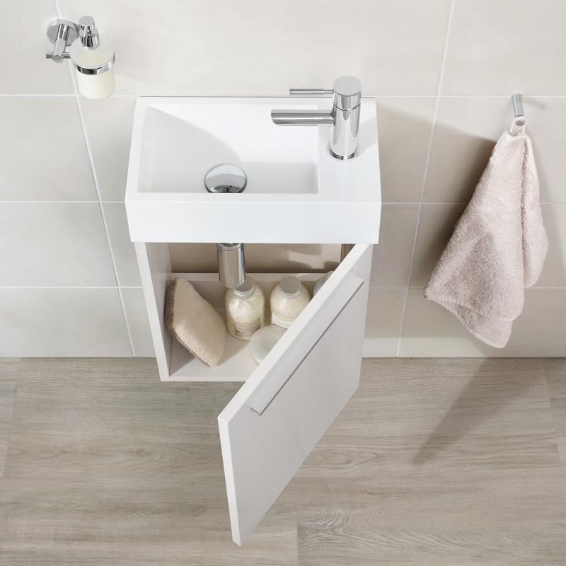 Treos serie 900 handwaschbecken mit unterschrank wei for Handwaschbecken mit unterschrank