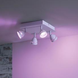 Trio Gemini RGBW LED Spot/Deckenleuchte mit Dimmer, 4-flammig