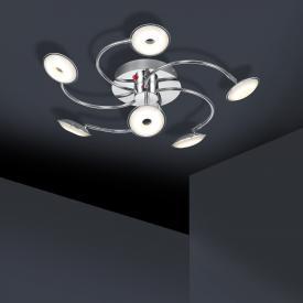 Trio Pilatus LED Deckenleuchte 6-flammig mit Dimmer