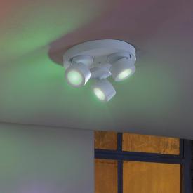 Trio Sancho RGBW LED Spot/Deckenleuchte mit Dimmer, 3-flammig