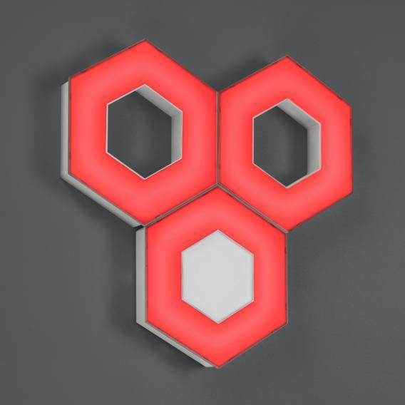 Trio Solitaire RGBW LED Decken-/Wandleuchte mit Dimmer, Basis
