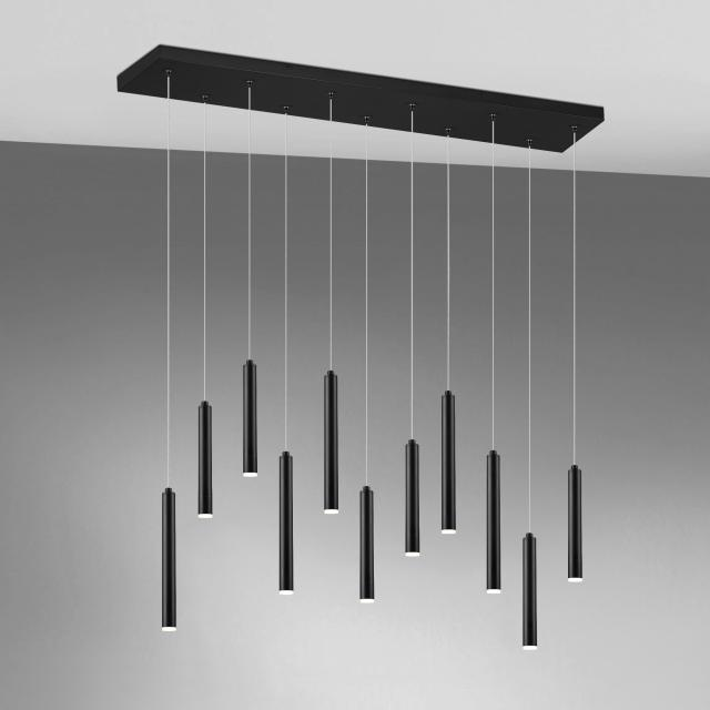 TRIO Tubular LED Pendelleuchte mit Dimmer, quadratisch