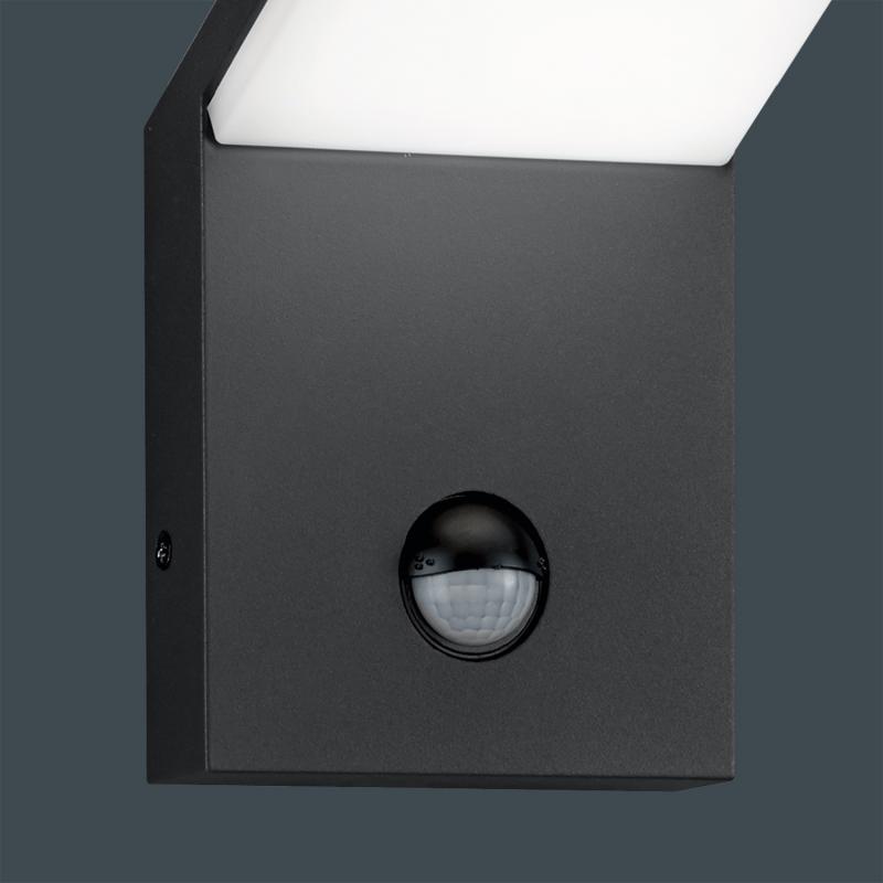 steinel au enleuchte l 20 silber wandleuchte mit 180. Black Bedroom Furniture Sets. Home Design Ideas