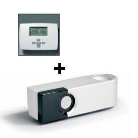 Vasco KIT SD-RF-L Luxus-Radiofrequenz-Thermostat und Radiofrequenz-Empfänger weiß