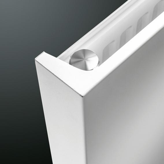 Vasco Niva Designheizkörper für Warmwasserbetrieb feinstruktur weiß, doppellagig, 2417 Watt
