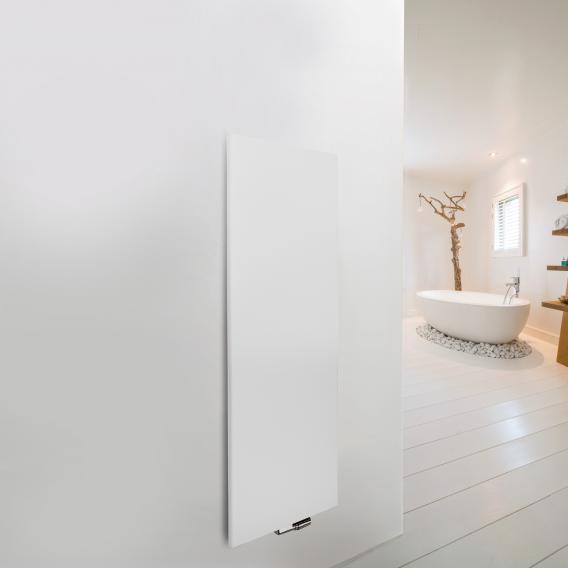 Vasco Niva Soft Designheizkörper für Warmwasserbetrieb weiß, einlagig, 985 Watt