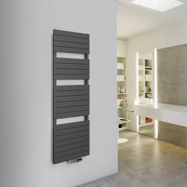 Vasco Aster Badheizkörper für Warmwasser- oder Mischbetrieb anthrazit Januar, 638 Watt, einlagig