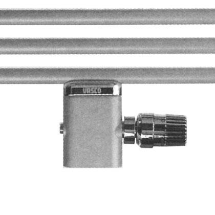 Vasco Eckventilgarnitur mm auch für Einrohrsystem mit Kappe Chrom (gerade Unterseite)