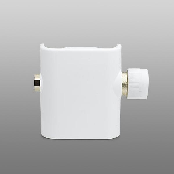 Vasco Eckventilgarnitur mm auch für Einrohrsystem mit Kappe weiß (gerade Unterseite) weiß