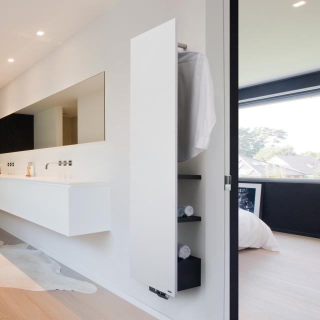 Vasco Niva Bad Badheizkörper-Set für Warmwasserbetrieb feinstruktur weiß, tiefschwarz, 934 Watt
