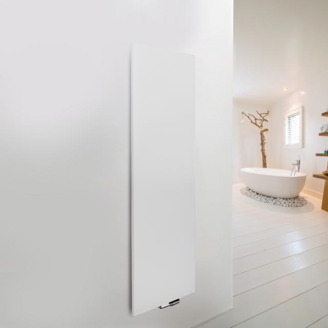 Vasco Niva Soft Designheizkörper für Warmwasserbetrieb feinstruktur weiß, einlagig, 934 Watt