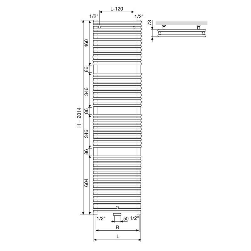 vasco agave hr2 heizk rper zweireihig breite 50 cm 1500 watt 111770500201400189016 0000 reuter. Black Bedroom Furniture Sets. Home Design Ideas