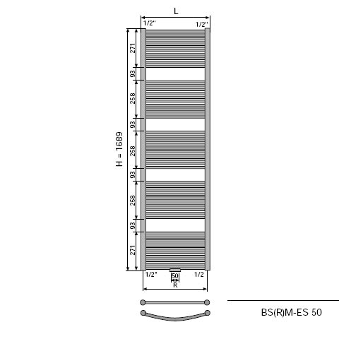 vasco malva edelstahl badheizk rper bsrm es edelstahl breite 450 mm 571 watt. Black Bedroom Furniture Sets. Home Design Ideas
