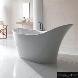 Victoria + Albert Amalfi Freistehende Oval-Badewanne weiß glanz/innen weiß glanz