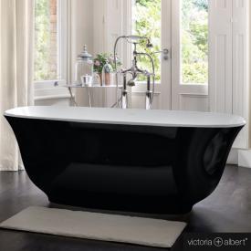 Victoria + Albert Amiata freistehende Badewanne schwarz/weiß