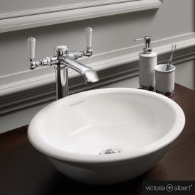 Victoria + Albert Drayton 40 Aufsatzwaschtisch anthrazit glanz/innen weiß glanz