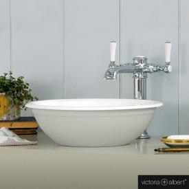 Victoria + Albert Drayton 40 Aufsatzwaschtisch hellgrau matt/weiß