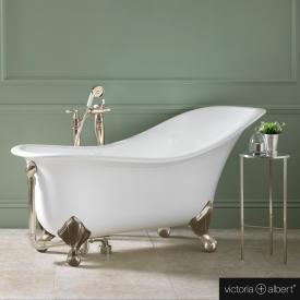 Victoria + Albert Drayton Freistehende Oval-Badewanne weiß glanz/innen weiß glanz, mit antik bronze Metall Füßen
